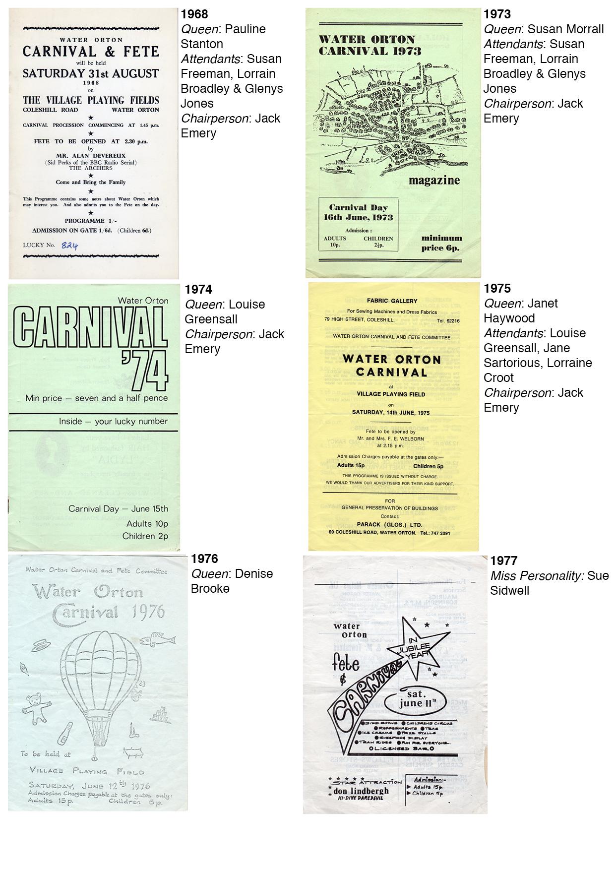 carnival-programmes